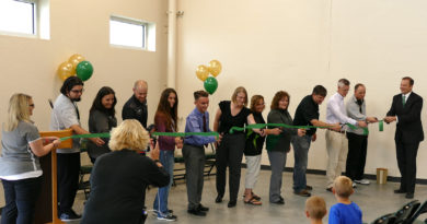GE Johnson with Falcon High School grand opening with ribbon cutting ceremony